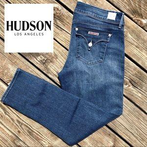 Hudson Jeans Dark Wash Skinny Collin • 32